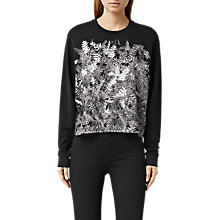 Buy AllSaints Fern Isola Sweatshirt, Black Online at johnlewis.com