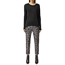 Buy AllSaints Helena Mercury Trousers, Mauve Grey Online at johnlewis.com