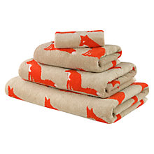 Buy Anorak Proud Fox Towels, Orange Online at johnlewis.com