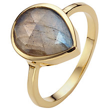 Buy John Lewis Gold Plated Labradorite Teardrop Ring, Gold Online at johnlewis.com