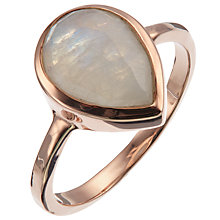 Buy John Lewis Rose Gold Plated Rainbow Moonstone Teardrop Ring, Rose Gold Online at johnlewis.com