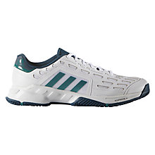 Buy Adidas Barricade Men's Tennis Court Shoes, White Online at johnlewis.com