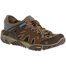 Buy Merrell All Out Blaze Sieve Women's Walking Shoes, Brown Sugar/Blue Heaven Online at johnlewis.com