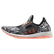 Buy Adidas Pureboost X Women's Running Shoes, Black/Orange Online at johnlewis.com