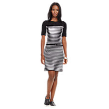Buy Lauren Ralph Lauren Arimona Dress, Black/White Online at johnlewis.com