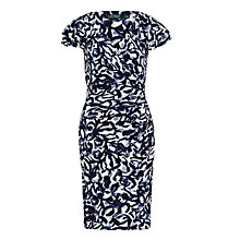 Buy Lauren Ralph Lauren Brisa Dress, Navy/Cream Online at johnlewis.com