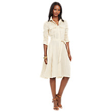 Buy Lauren Ralph Lauren Ataulfo Shirt Dress, Cream/Taupe Online at johnlewis.com