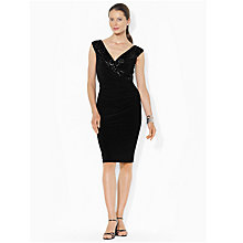 Buy Lauren Ralph Lauren Cynthia Embellished Wrap Dress, Black Online at johnlewis.com