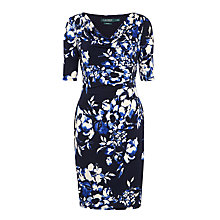Buy Lauren Ralph Lauren Carleton Floral Print Dress, Lighthouse Navy Online at johnlewis.com
