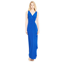 Buy Lauren Ralph Lauren Damien Wrap Over Dress, Camden Blue Online at johnlewis.com