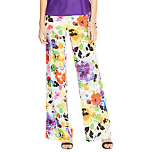 Buy Lauren Ralph Lauren Flotisma Wide Leg Trousers, Pearl Multi Online at johnlewis.com