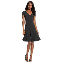 Buy Lauren Ralph Lauren Falzara Dress, Black/Pearl Online at johnlewis.com