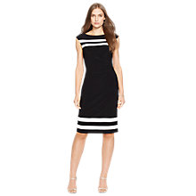 Buy Lauren Ralph Lauren Georgina Dress, Black/Lauren White Online at johnlewis.com