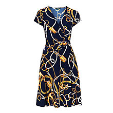 Buy Lauren Ralph Lauren Asbarry Dress, Navy Multi Online at johnlewis.com
