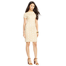 Buy Lauren Ralph Lauren Dreenie Dress, Tan Multi Online at johnlewis.com