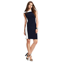 Buy Lauren Ralph Lauren Gianne Dress, Lighthouse Navy/Lauren White Online at johnlewis.com