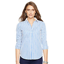 Buy Lauren Ralph Lauren Jebediah Stripe Shirt, Blue/White Online at johnlewis.com