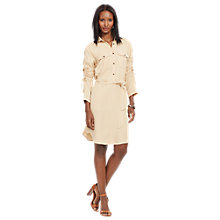 Buy Lauren Ralph Lauren Karima Shirt Dress, New Tan Online at johnlewis.com