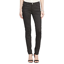 Buy Lauren Ralph Lauren Daniella Modern Slim Trousers, Black/Pearl Online at johnlewis.com