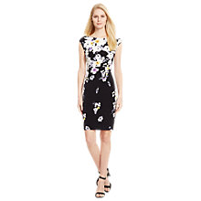Buy Lauren Ralph Lauren Novellina Floral Print Dress, Black Online at johnlewis.com