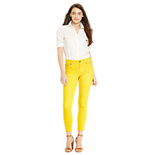 Buy Lauren Ralph Lauren Premier Cropped Skinny Jeans, Coastal Yellow Wash Online at johnlewis.com