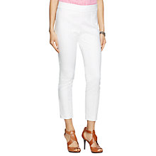 Buy Lauren Ralph Lauren Vyndala Skinny Fit Trousers, White Online at johnlewis.com