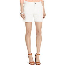 Buy Lauren Ralph Lauren Sherdon Shorts, White Online at johnlewis.com