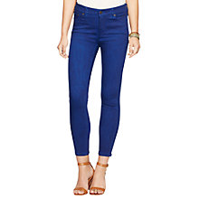 Buy Lauren Ralph Lauren Premier Cropped Skinny Jeans, Deep Royal Wash Online at johnlewis.com