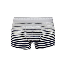 Buy BOSS Degradee Stripe Trunks, Grey/Navy Online at johnlewis.com
