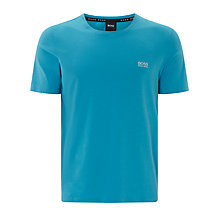 Buy BOSS Crew Neck Lounge T-Shirt, Bright Blue Online at johnlewis.com