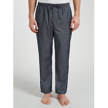 Buy BOSS Dobby Woven Cotton Lounge Pants, Grey Online at johnlewis.com