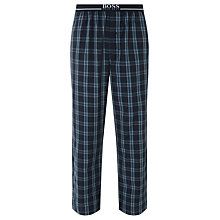 Buy BOSS Urban Woven Cotton Check Lounge Pants, Blue Online at johnlewis.com