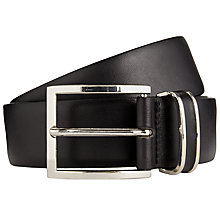 Buy BOSS Froppin Leather Belt, Black Online at johnlewis.com