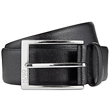 Buy HUGO by Hugo Boss C-Gorizy Leather Belt, Black Online at johnlewis.com
