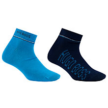 Buy BOSS Ankle Socks, Pack of 2, Blue Online at johnlewis.com