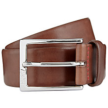 Buy HUGO by Hugo Boss C-Gerron-N Leather Belt, Brown Online at johnlewis.com