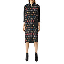Buy AllSaints Lupine Aries Dress, Black Online at johnlewis.com