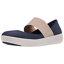 Buy FitFlop Mary Jane Suede Women's Shoes, Supernavy/Nude Online at johnlewis.com