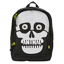 Buy Animal Children's Sidekick Skeleton Backpack, Black/White Online at johnlewis.com