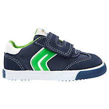 Buy Geox Children's Kiwi Baby Rip-Tape Trainers, Navy/Green Online at johnlewis.com