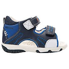 Buy Geox Children's Elba Boy Sandals, Navy/Royal Online at johnlewis.com