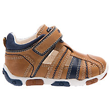 Buy Geox Children's Balù Boy Cut-Out Shoes, Caramel/Navy Online at johnlewis.com