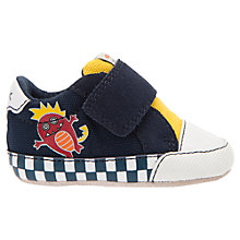 Buy Geox Children's Ian Rip-Tape Booties, Navy/Yellow Online at johnlewis.com