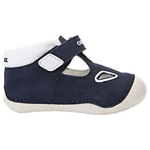 Buy Geox Children's Titum Baby Rip-Tape Shoes, Navy/White Online at johnlewis.com