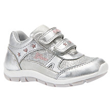Buy Geox Children's Shaax Baby Rip-Tape Shoes, Silver Online at johnlewis.com