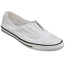 Buy Converse Chuck Taylor All Star Cove Slip On Trainers, White Online at johnlewis.com