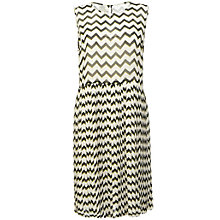 Buy Baum und Pferdgarten Agnes Pleated Dress, Golden Zig Zag Online at johnlewis.com