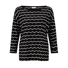 Buy Numph Charlie Wavy Stripe Top, Caviar Online at johnlewis.com
