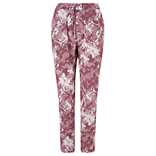 Buy Minimum Ninel Etch Flower Print Trousers, Wood Rose Online at johnlewis.com