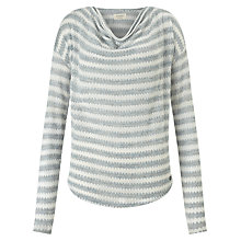 Buy Numph Gita Cowl Neck Stripe Top, Birch Online at johnlewis.com